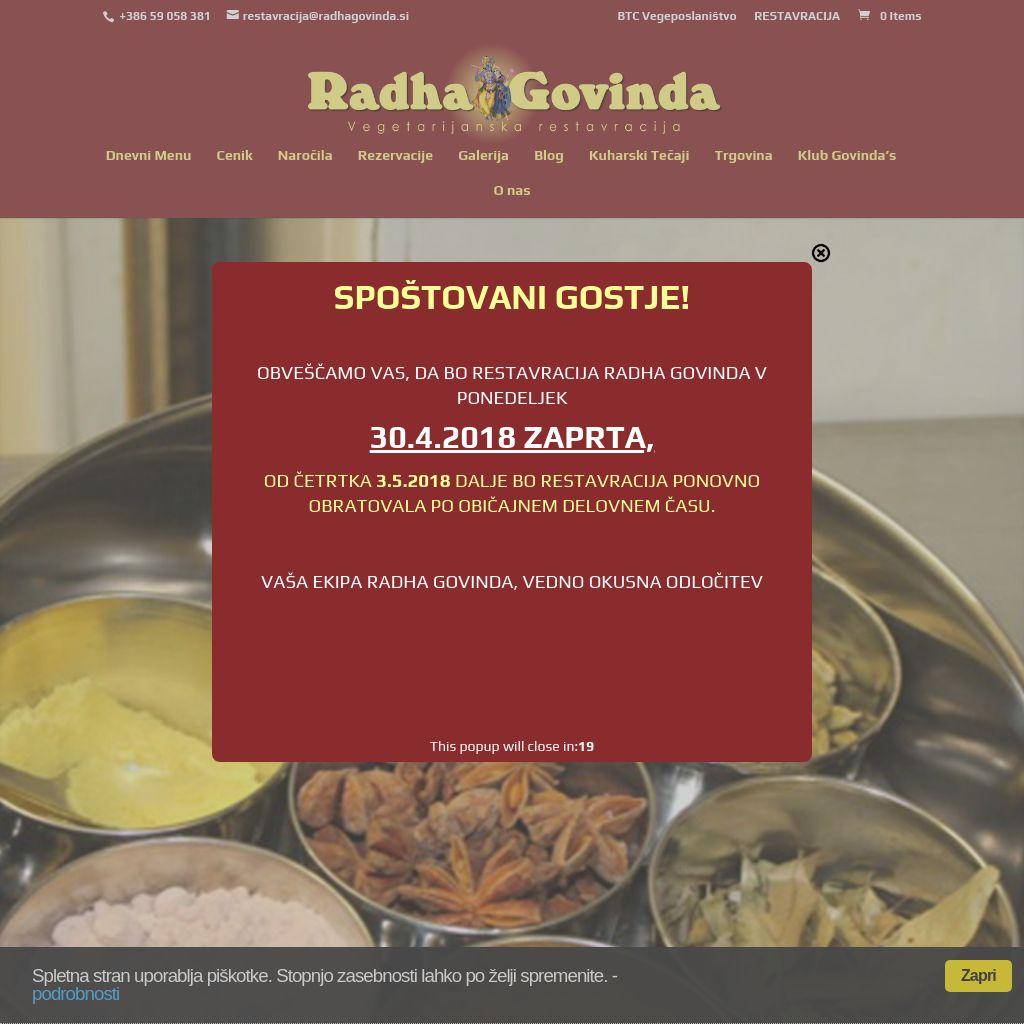 Radha Govinda vegetarijanska restavracija